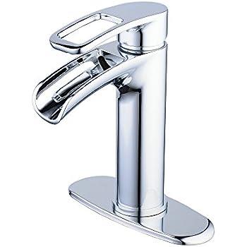 Chrome Waterfall Bathroom Faucet Hiendure 1 Hole Or 3 Hole Brass Bathroom Vanity Sink Faucet