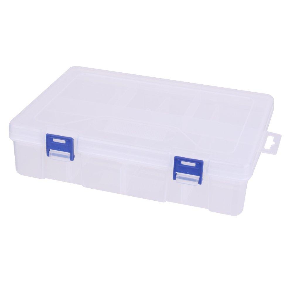 Boîte de Rangement Transparent Multi Compartiments Organisateur pour Bijoux Generic STK0156002367