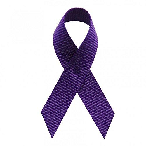 Made Purple Grosgrain Awareness Ribbons