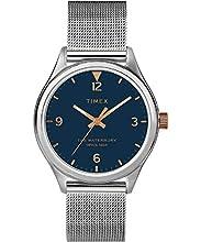 Timex Waterbury Traditional Quartz Movement Blue Dial Ladies Watch TW2T36300