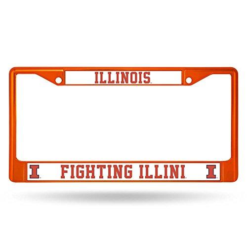 NCAA Illinois Illini Colored Chrome Plate Frame, - Malls Outlet Illinois