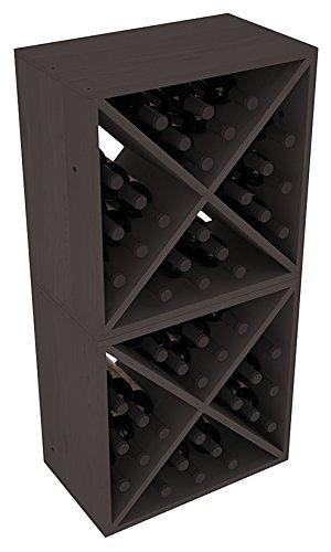 Wine Racks America Ponderosa Pine 48 Bottle Wine Cube. Black Stain Review