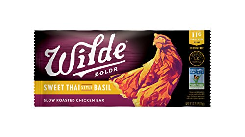 Beef Roasted Jerky (Wilde Brands Premium Lean Meat Snack Bars (15 Bars) (Sweet Thai Basil))