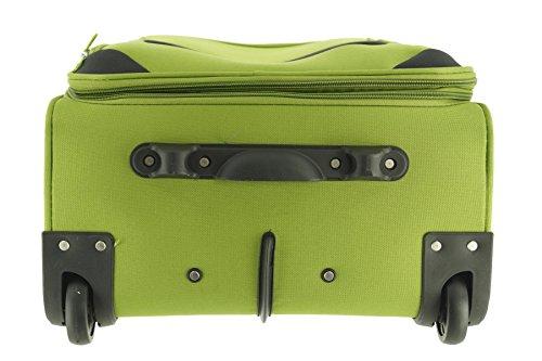 41uh9yVF5ZL - Maletín de plástico Airport Color Verde Tamaño L Plástico Viaje Maleta Case FA. bowatex