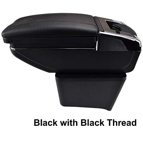 Rotatable Armrest For Polo 9N 9N3 Mk4 2002-2009 Black Thread Storage Box Arm Rest