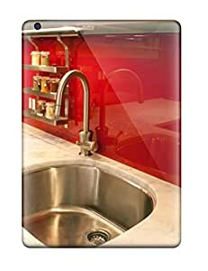 Case Cover Red Shiny Backsplash In Modern Kitchen/ Fashionable Case For Ipad Air