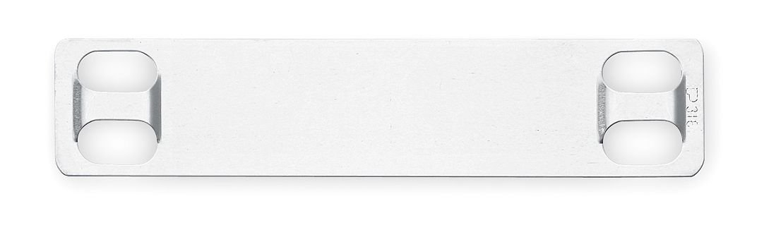 Panduit MMP350H-C Marker Plate, 304 Stainless Steel, Natural (100-Pack)