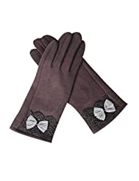 The New Ms Warm Gloves Touch Screen Bow Cashmere,1