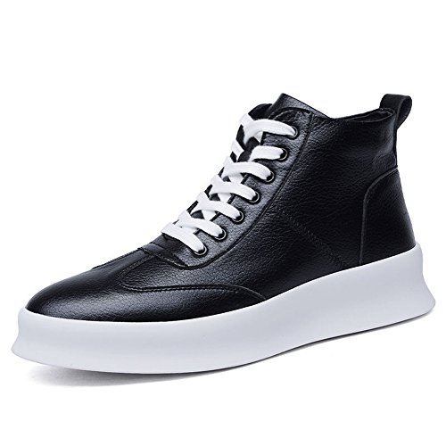 Men's Shoes Feifei Spring and Autumn Fashion High Help Casual Shoes 3 Colors (Color : Black, Size : EU/41/UK7.5-8/CN42)