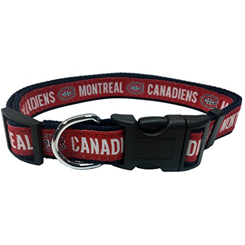 (Pets First NHL Montreal Canadiens Collar for Dogs & Cats, Medium. - Adjustable, Cute & Stylish! The Ultimate Hockey Fan Collar!)
