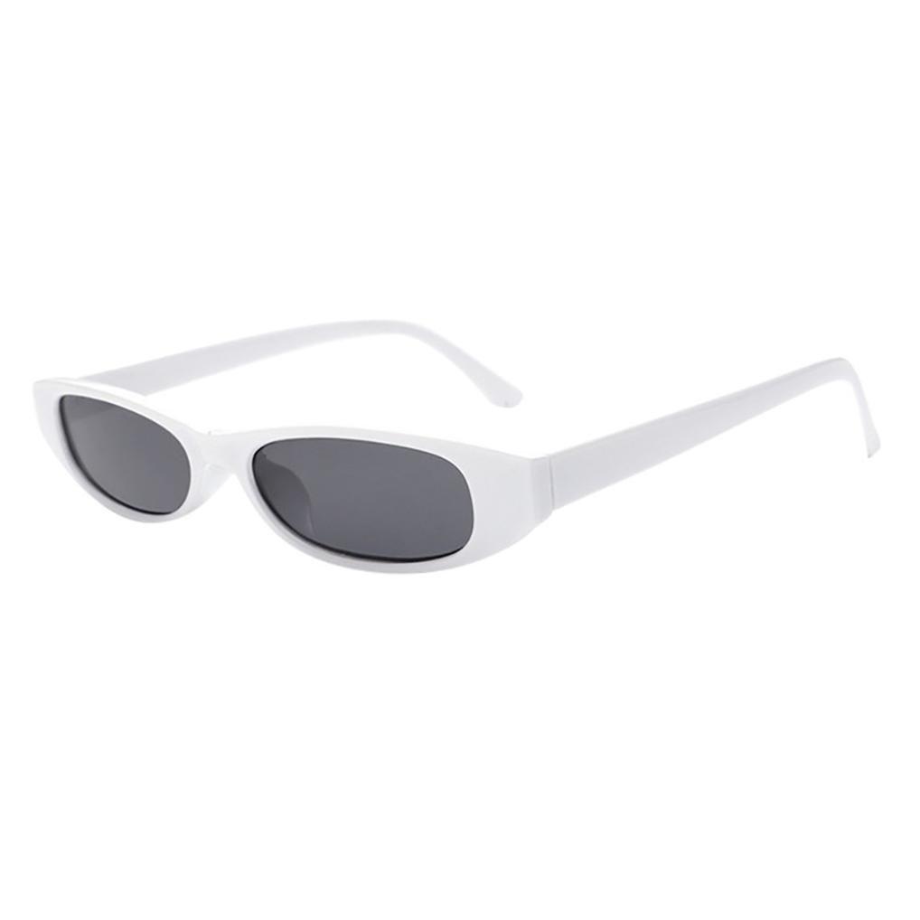 2018 Sunglasses,Sunfei  Retro Vintage   Clout Cat Rapper Oval Shades Grunge Glasses Unisex Sunglasses (F)