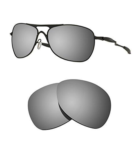 Oakley Crosshair Replacement Lenses - Littlebird4 1.5mm Polarized Replacement Lenses for Oakley Crosshair Sunglasses - Multiple Options (Silver Mirror)