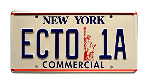 Ghostbusters 2 | '59 Cadillac Hearse | ECTO-1A | Metal Stamped Vanity Prop License Plate