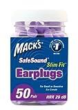 Mack's Ear Care Slim Fit Soft Foam Earplugs, 50 Count, Health Care Stuffs