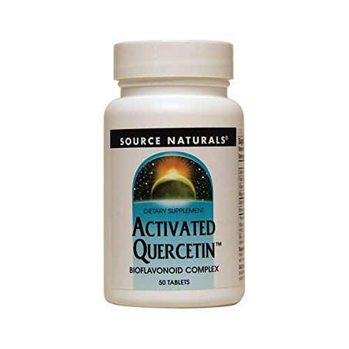 Source Naturals Activated Quercetin Bioflavonoid Complex Pineapple Enzyme With Bromelain, Magnesium & Vitamin C 50 Tablets