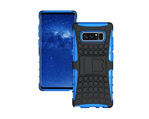 Galaxy Note 8 Case,Berry Accessory Heavy Duty Rugged [Drop Protection][Shock Proof][Dual Lawyer] Hybrid Defender Armor with Built-in Kickstand Case Cover For Samsung Galaxy Note 8 2017 (Blue) Review