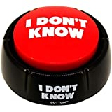 I Don't Know Button, Talking Button Features Funny I Don't Know Sayings