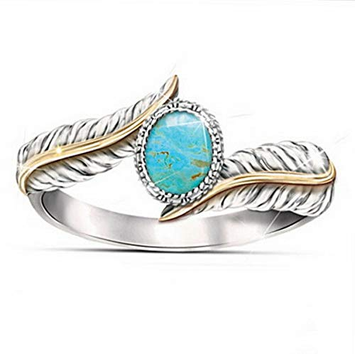 - Tomikko Women Fashion Jewelry 925 Silver Turquoise Vintage Wedding Ring Gifts Size 6-10 | Model RNG - 13208 | 9