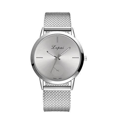 LUCA Women Simple Mesh Bracelet Watch Girl Stainless Steel Band Analog Watches Drive Womens Bangle Style Watch