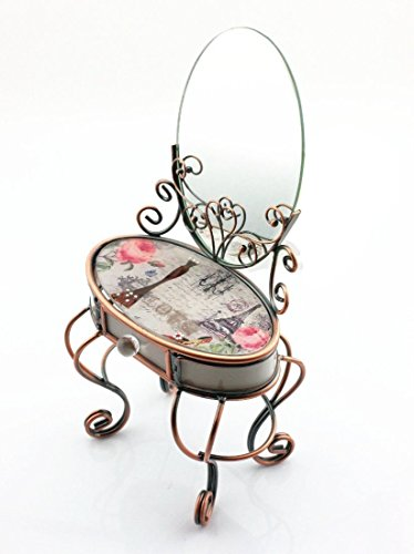Yusong Jewelry Box Eiffel Tower Design Mini Desk Makeup Box With Mirror Wedding Gifts Buy Online In Aruba At Aruba Desertcart Com Productid 32575109