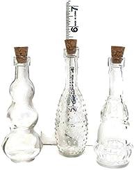 Vintage Glass Bottles with Corks, Bud Va...