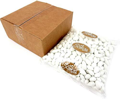 Jordan Almonds Wedding - White Jordan Almonds, 5 lb Bag