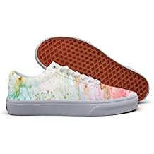 Colorful Paint Watercolor Shading Gouache Cool Brand Canvas Shoes