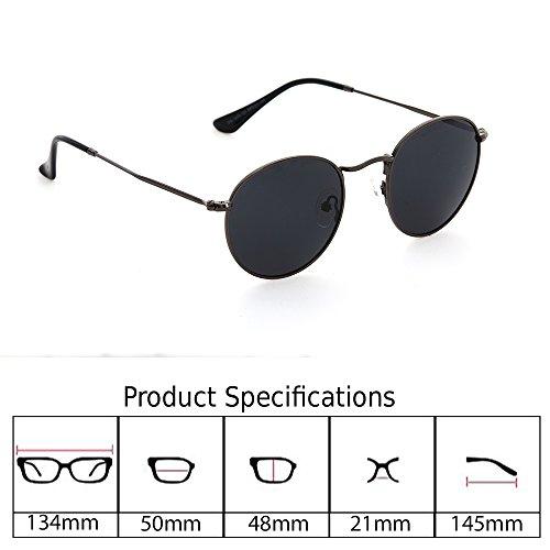 e5da2b16ad Jual DESPADA Premium Unisex Round Polarized Sunglasses with Metal ...