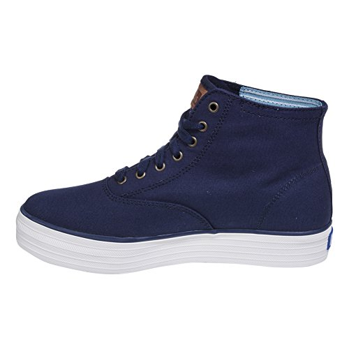 Keds Femmes Triple Salut Saisonnier Mode Solide Sneaker Marine