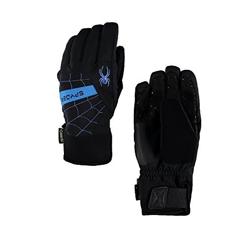 Spyder Men's Underweb Gore-Tex Ski Glove, Black/French Blue, Large