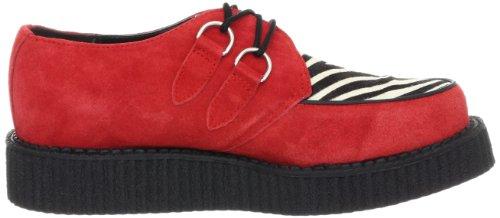 T.U.K. Tuk - Mondo Lo Creeper, Sneakers, unisex Rosso (Rouge (Red/Zebra Print))