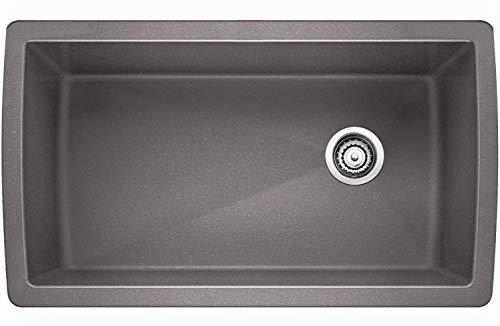 Blanco 441770 Diamond Super Single Bowl Sink, Metallic Gray