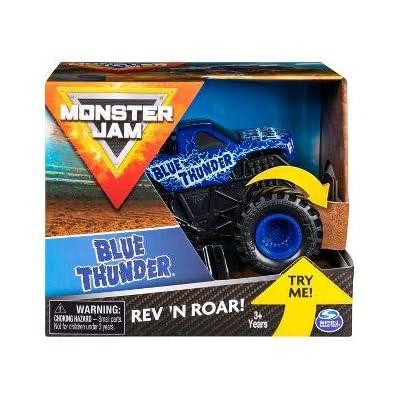 Monster Jam, Official Blue Thunder Rev 'N Roar Monster Truck, 1: 43 Scale: Toys & Games