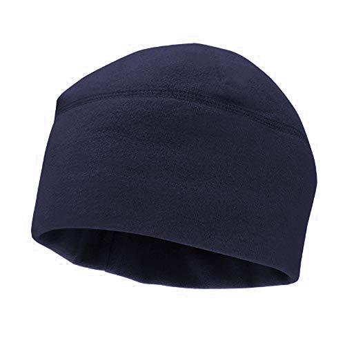 (Opromo Tactical Microfleece Watch Cap Windproof Fleece Beanie Military Skull Cap-Navy Blue-1piece)