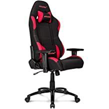 AKRacing Core Series EX Gaming Chair with High Backrest, Recliner, Swivel, Tilt, Rocker & Seat Height Adjustment Mechanisms, 5/10 Warranty - Black/Red