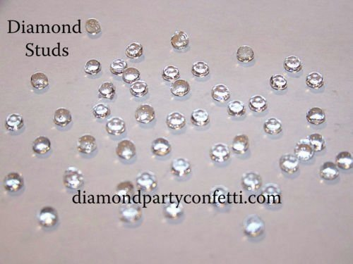 5mm Edible Diamond Studs Wedding Cake Cupcake Jewel Sugar Decoration 54pcs Clear