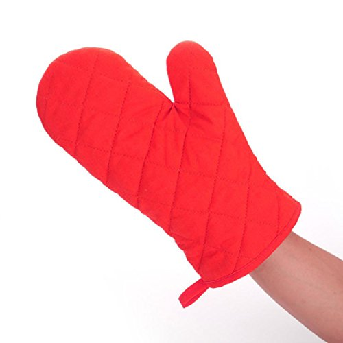 LiPing 2Pcs Microwave Cotton Gloves Kitchen GLOVE, Cooking Heat Resistant Kitchens Mitts for Cooking, Baking, Barbecue Potholder, Mothers Day Gift Present (B)