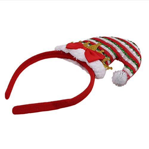For Headband Kids Hair Girl Multi Red3 Joofff Head Rope Christmas Tied Ring A5vyqwzy