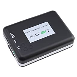USB Cassette-to-MP3 Converter Capture, Actpe Audio Super USB Portable Cassette/ Tape to PC MP3 Switcher Converter with Headphone