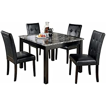 Brilliant Ashley Furniture Signature Design Maysville Dining Room Table Set Contemporary Set Of 5 Black Home Interior And Landscaping Ologienasavecom