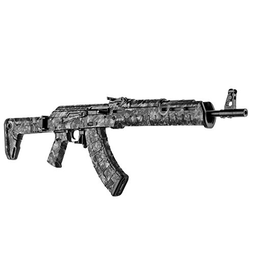 GunSkins AK-47 Rifle Skin Camouflage Kit DIY Vinyl Wrap with precut Pieces (Proveil Reaper Black)