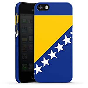 Carcasa Design Funda para Apple iPhone 5 S PremiumCase white - Flag of Bosnia and Herzegovina