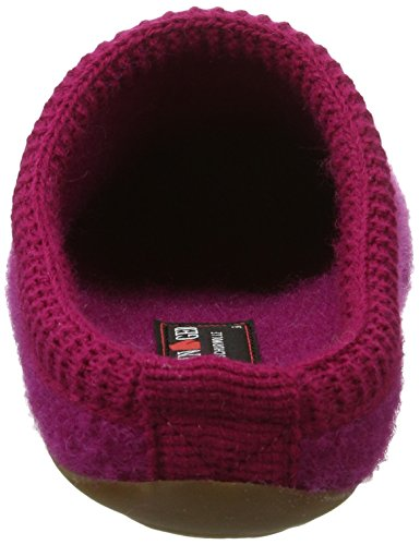 Haflinger Classic 481002 - Pantuflas de tela unisex Pink (Kardinal)