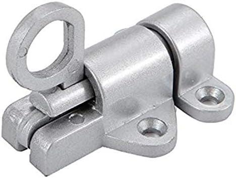 TOOGOO Aleaci/óN de Aluminio Seguridad Autom/áTica Ventana Cerradura de la Puerta Muelle Rebote Pestillo de la Puerta Gris Plateado