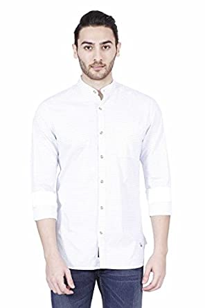 Camaroon Men's Cotton off-White Color Shirt: Amazon.in: Clothing ...