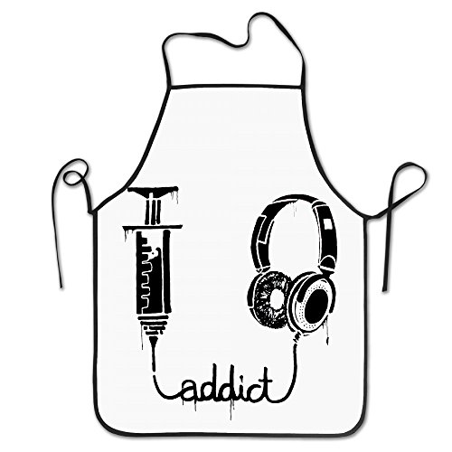 Adjustable Bib Aprons Addict Music Is (Frank The Pug Costume)