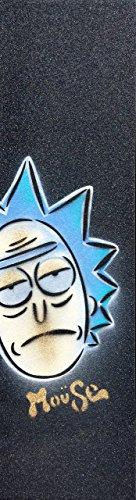 "Rick Moüse Skateboard Grip Tape Sheet Black 9"" x 33"" Bubble Free"