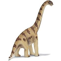 Schleich Réplica de Figura de Dinosaurio Brachiosaurio, color café con beige