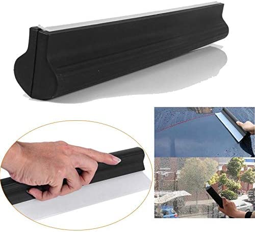 Antislip Nonscratch Car Squeegee Silicone Wiper Water Blade Clean Ergonomic Grip Clean Silicone Wiper Car wash Cleaning Wiper Glass Scraper for Drying Car Window Glass Mirror Shower Door Bathroom