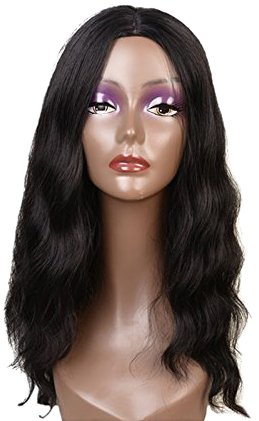 Amazon.com   Feibin Synthetic Wigs For Black Women Natural Wavy ... f2dfc2d69